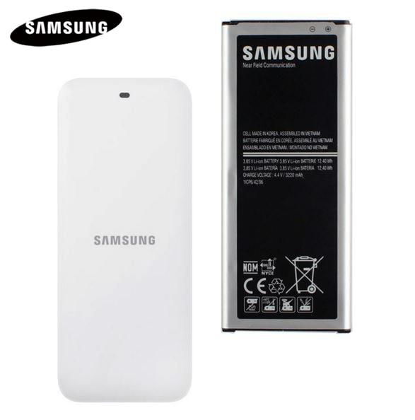 Batería Original + cargador de muelle para Samsung GALAXY NOTE 4 N910A N910C N910F N910G N910H N910FD NOTE4 EB-BN910BBE 3220 mah