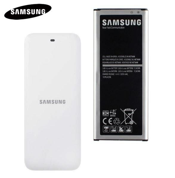 Batteria originale + Bacino Della Culla Del Caricatore PER Samsung GALAXY NOTE 4 N910A N910C N910F N910G N910H N910FD NOTE4 EB-BN910BBE 3220 mah