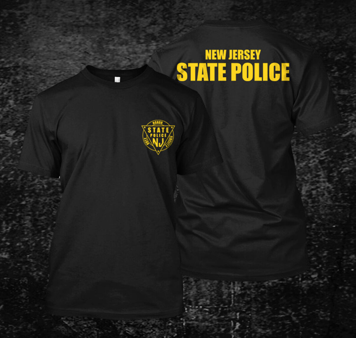 2019 Funny Jersey State Police - Custom T-Shirt Tee Double Side Unisex Tee