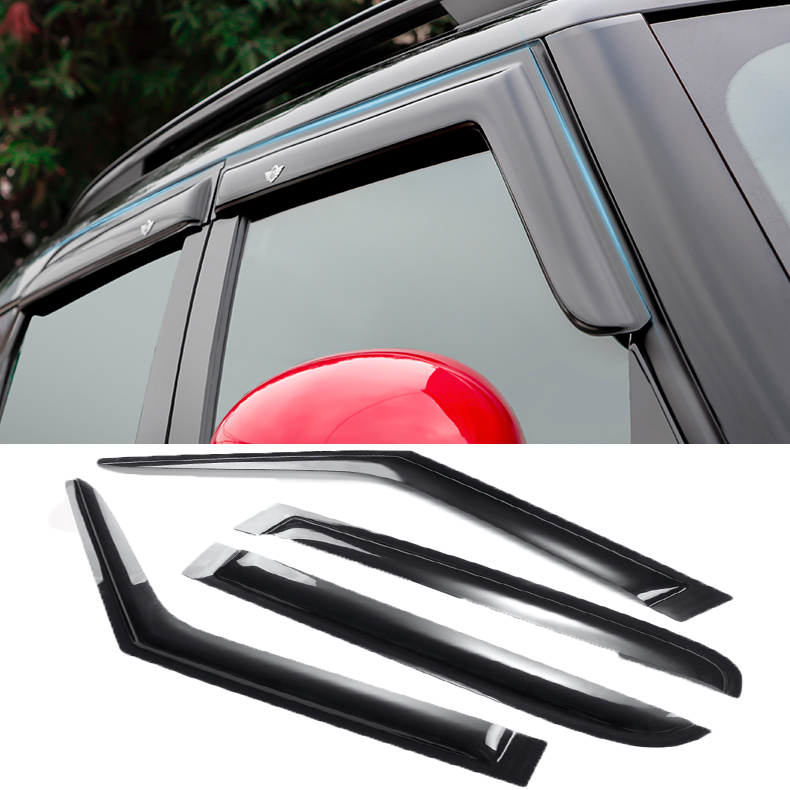 Sun Rain Guards Acrylic Translucent smoky color For Mini cooper Countryman Hatchback Clubman R53 R55 R56