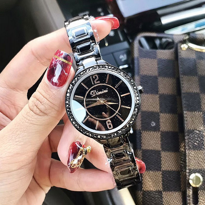 Luxury Women Watches Diamond Famous Brand Elegant Dress Quartz Watches Ladies Rhinestone Wristwatch Relogios Femininos feitong fashion dress watches women female models thin pu leather belt rhinestone quartz wristwatch relogios femininos hombre