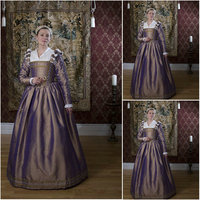 History!Customer made Luxs Vintage Costumes Renaissance Dresses Steampunk dress Gothic Cosplay Halloween Dresses C 1126