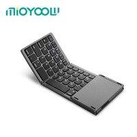 El doble Plegable Portátil Teclado Bluetooth BT Touchpad Teclado Inalámbrico Plegable para IOS/Android/Windows Tablet ipad