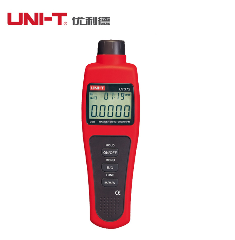 UNI-T UT371 digital tachometer non-contact photoelectric tachometer speed meter Measuring tool 99999RPM 10KHz Pulse width 5% uni t ut372 non contact laser tachometer with measuring range 10 to 99 999 rpm