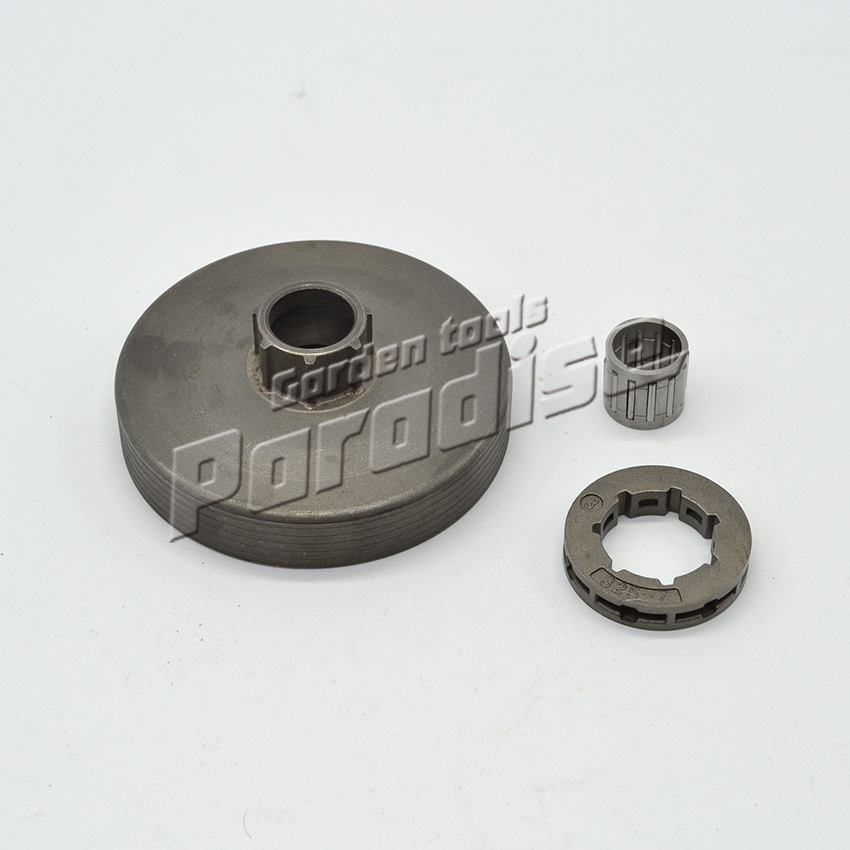 4500 5200 5800 Chainsaw Clutch Drum with Needle Bearing with 0.325-7 Teeth Sprocket Rim One Set Free Shipping chainsaw clutch drum rim sprocket 3 8 7t needle bearing kit for husqvarna 61 66 162 266 268 272 jonsered 625 630