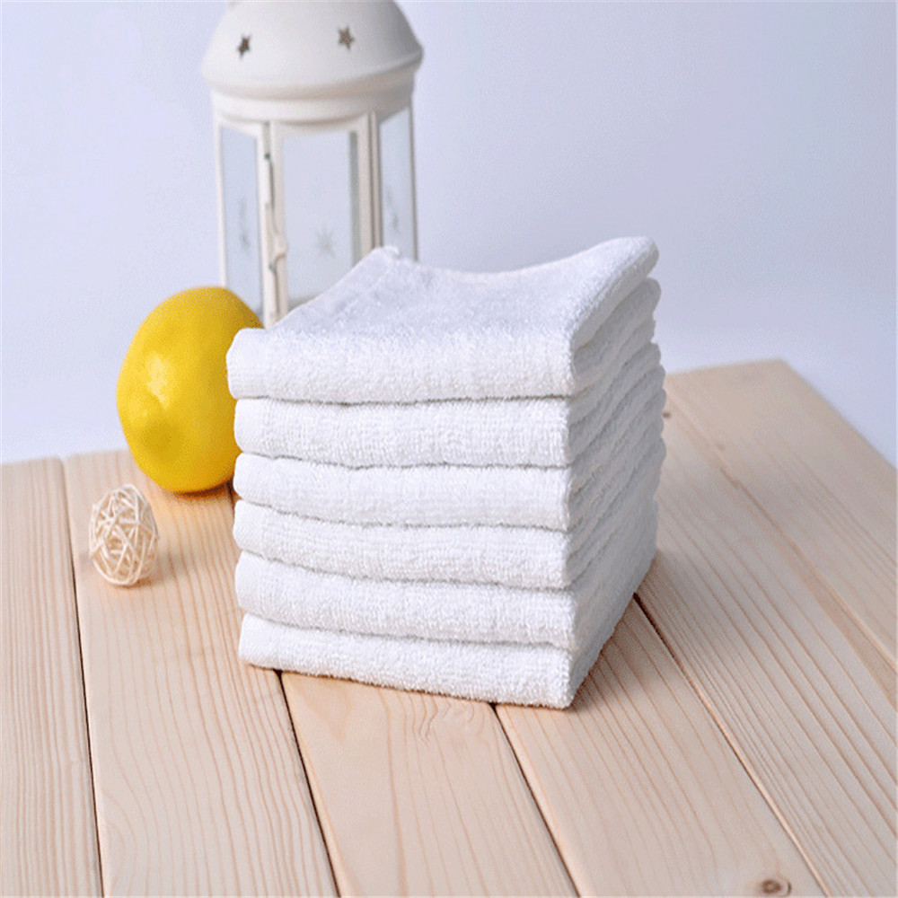 Small Towel Extra High-Quality 100%Cotton Highly-Absorbent 1PC Pure-White Superfine New-Arrival