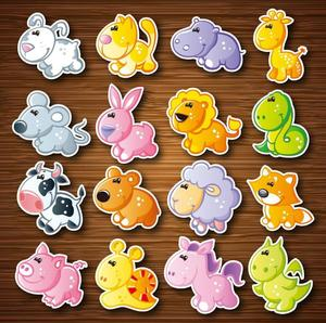 EVA Animal fridge magnets whiteboard sticker Refrigerator Magnets Kids gifts Home Decoration(China)