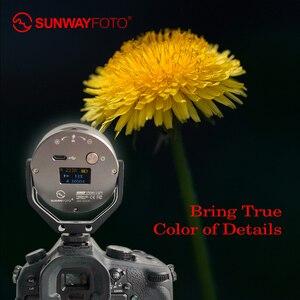 Image 1 - SUNWAYFOTO FL 54 pierścień aparatu światło oświetlenie fotograficzne Fotografia lampa do zdjęć led wideo lampa leddo smartfona do youtube studio Photo