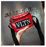 Brand luxury classic 2018 spring and autumn new VLTN solid color trend slanting versatile one shoulder fashion catwalk handbag