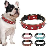 1 Row Cute Rivets Studded Pet Dog Cat Collars Soft Padded Puppy Kitten Necklace For Small