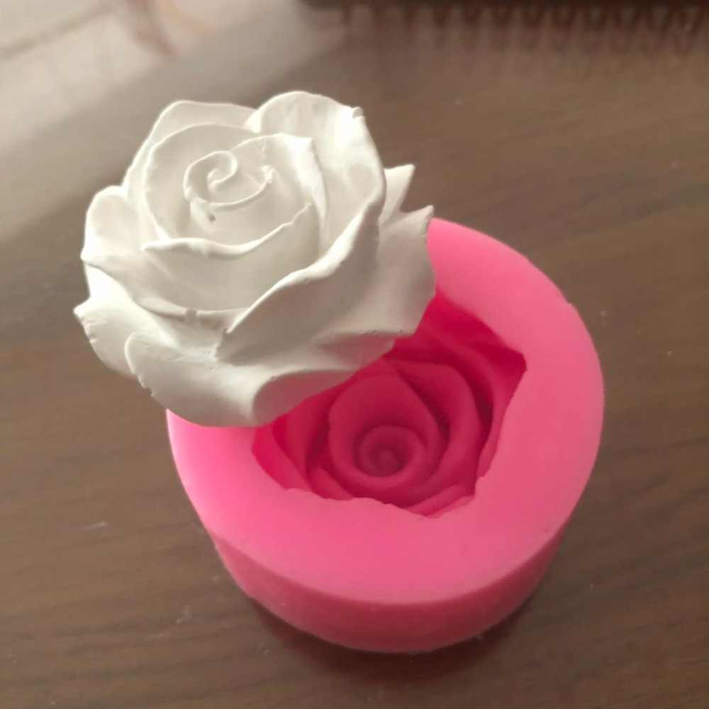 Flower Bloom Rose shape Silicone Fondant Soap 3D Cake Mold Cupcake Jelly Candy Chocolate Decoration Baking Tool Moulds