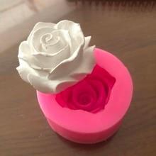 Moule à savon 3D en Silicone en forme de Rose fleur fleur, Fondant, cupcakes, gelée, bonbons, chocolat, décoration, outil de cuisson