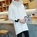 FWD001 Hombre medio-largo 90% de pato blanco abajo ABRIGOS/largo invierno de la moda de ocio de moda chaqueta de down chaquetas/3 color 6 tamaño
