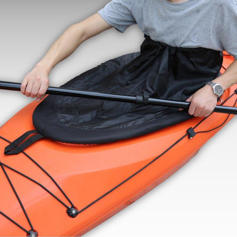 Meilleure couverture de jupe de pulvérisation de Kayak, couverture imperméable universelle de jupe de jet d'éclaboussure de Kayak de bateau marin en Nylon