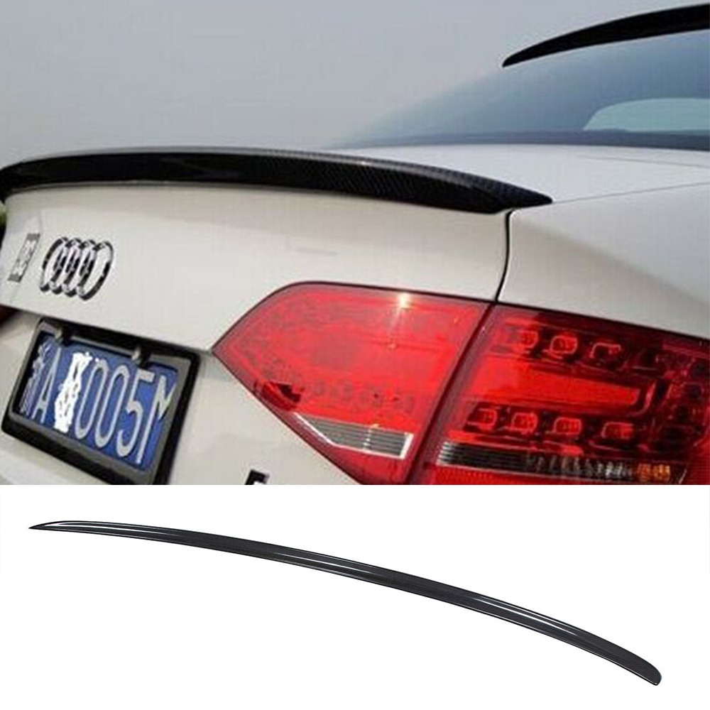 a4 b8 carbon fiber car styling rear spoiler wing for audi. Black Bedroom Furniture Sets. Home Design Ideas