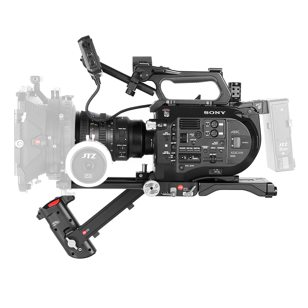 JTZ DP30 Camera Baseplate Shoulder Support Rig 15mm Rod KIT For SONY FS7 PXW-FS7 jtz dp30 quick release baseplate 15mm rod rig support for camera a7ii dslr cage