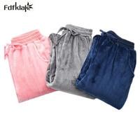 Fdfklak Thick Flannel Winter Pajama Pants Women Warm Home Pants Long Sleep Bottoms Female Pijama Pant Women's Trousers