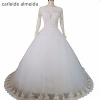 Vestido De Noiva Long Sleeve Wedding Dresses With Lace See Through Back Sexy Wedding Gowns China