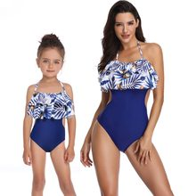 mother daughter one-piece swimwear family look mommy and me bikini swimsuits matching outfits mom mum daughter dresses clothes(Hong Kong,China)