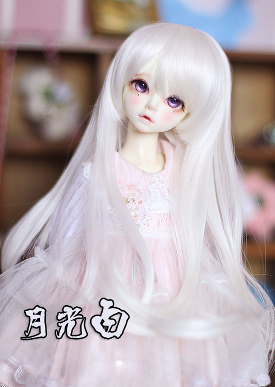 все цены на BJD doll hair wigs white High-temperature wire curly tail long wigs for 1/3 BJD DD SD doll super soft hair онлайн