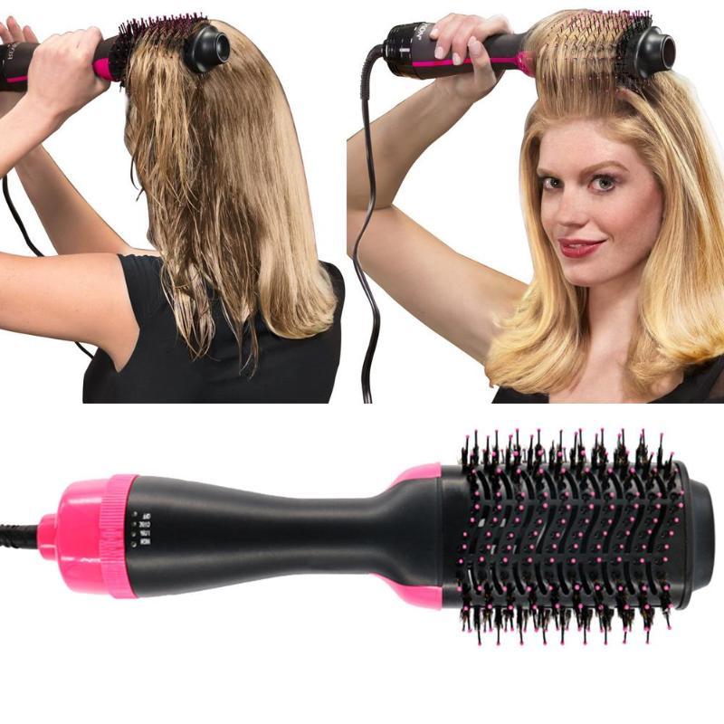1000W 3 gear Multi-use Hair Curler Dryer Massage Comb Hair Straightener Ceramic Roller 2m 360 degrees rotate