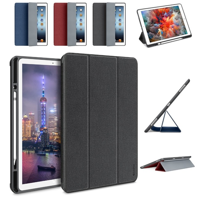 outlet store a678a 63f76 US $39.99 |For iPad Pro 12.9 Case Denim Leather Ultra Slim Flip Folio Smart  Cover With Pencil Holder For iPad 12.9 A1671 A1670 A1584 A1652-in Tablets  ...