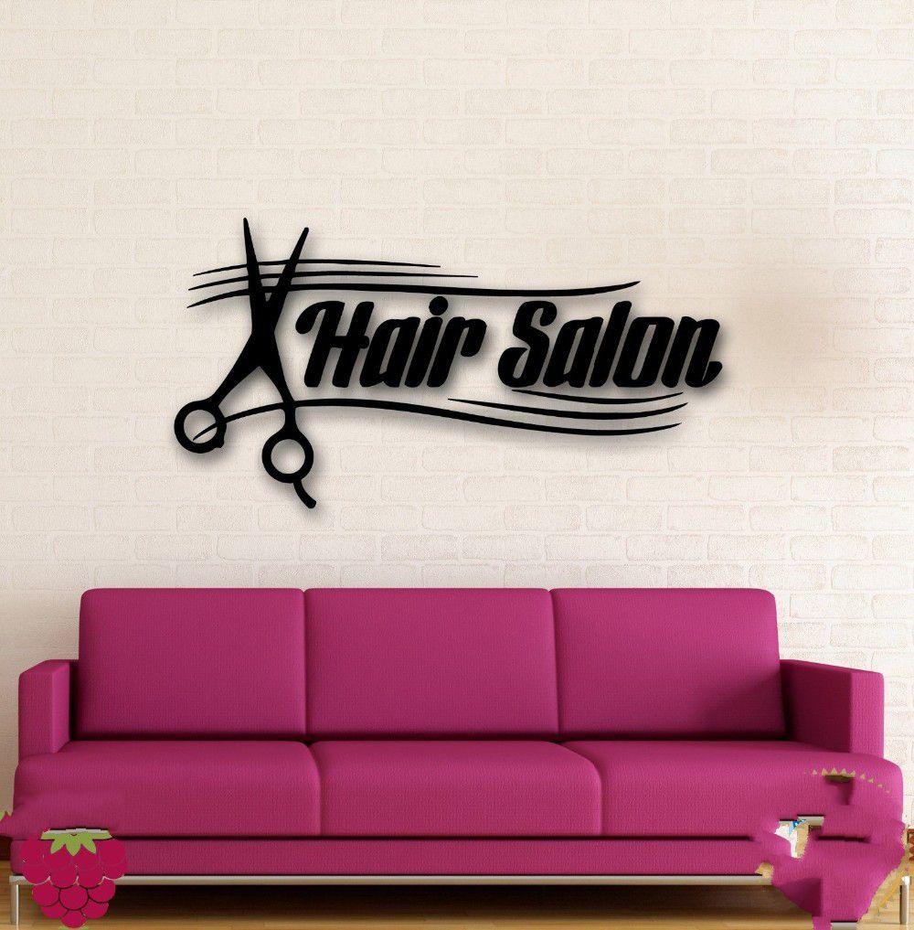 Popular hair salon sign buy cheap hair salon sign lots for Interieur stickers