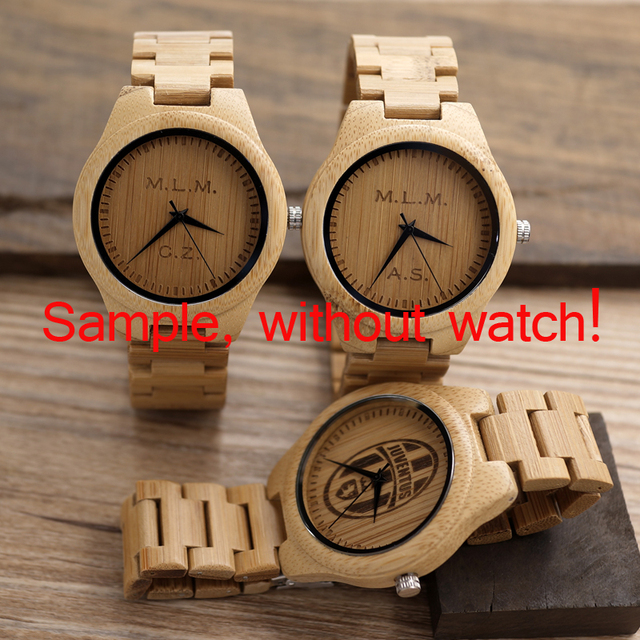 Personality Creative Design Logo MESSAGE Engraved Carved Customize ONLY Logo cost Laser Charge No Watch 2
