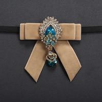 جديد الموضة الذكور الرجال الماس الكورية النساء اللباس الأسود طوق الأعمال البريطاني زفاف رفقاء العريس القوس التعادل gravata ربطة