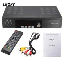 LEORY DVB-T2+S2 Video Broadcasting Satellite TV Receiver Box HD 1080P HDTV Composite Digital High-definition Receiver EU/UK Plug
