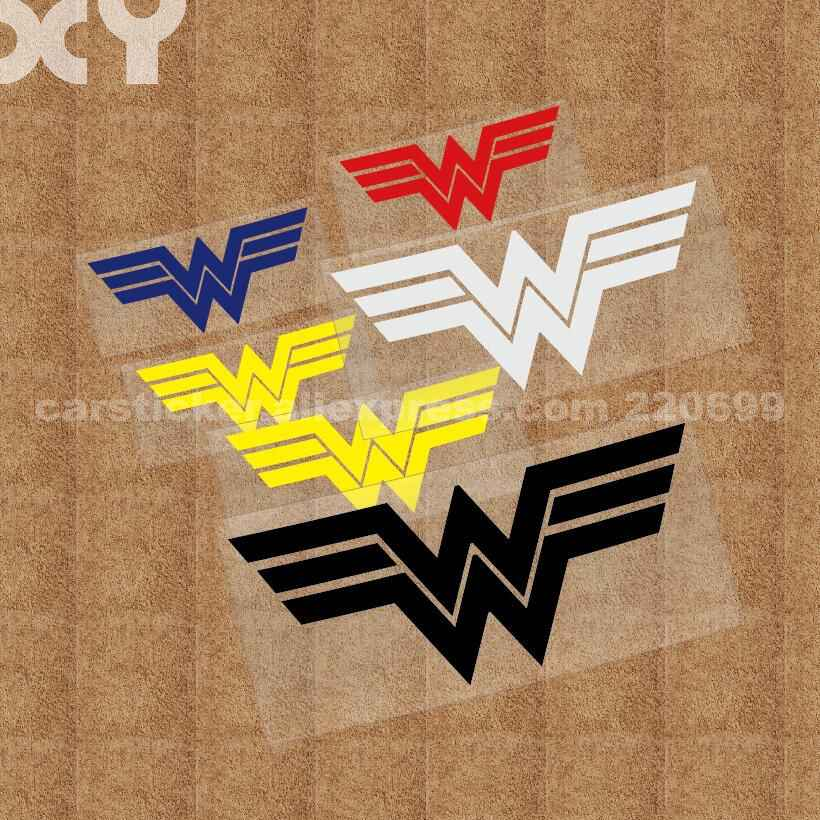 XY 4 Dimensioni Supereroi Wonder Woman Tipo Truck Auto Motor Sticker Decal Riflettente Auto Divertente Adesivi In Vinile