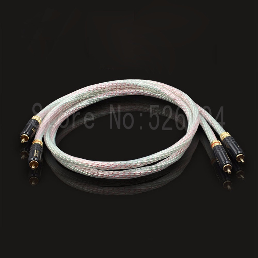 Free shipping pair Nordost Valhalla audio RCA interconnect cable with WBT-0144 RCA plug connector free shipping pair furutech alpha p2 1 audio interconnect cable with silvrlink rca plug connector