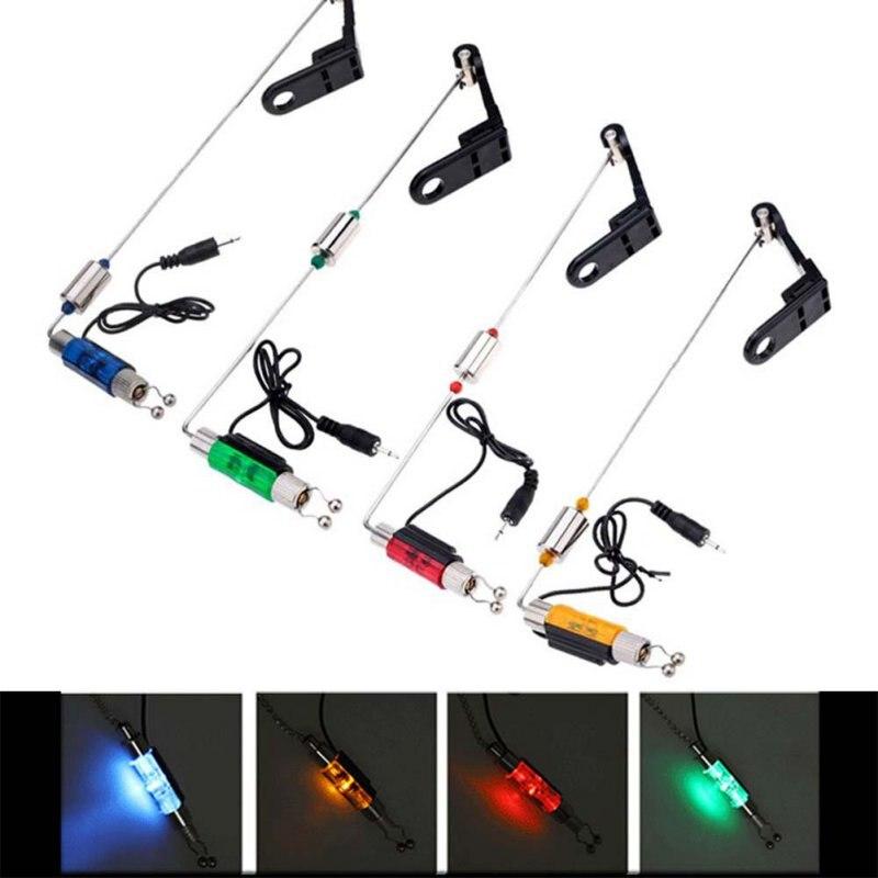 купить Fishing Alarm Iron Fishing Bite Hanger Swinger LED Illuminated Indicator Fishing Tackle Tools High Quality по цене 274.71 рублей