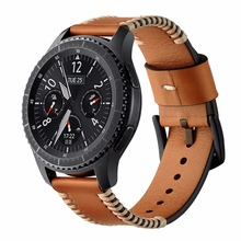 22mm Leather Strap For Samsung Gear S3 Frontier/Classic Bracelet wristwatch band Watchbands Replacement belt цена 2017