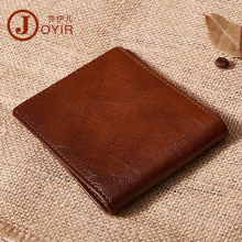 JOYIR Genuine Leather Men Wallets Brand High Quality Design Short Wallets Purses Gift For Men Card Holder Bifold Male Purse brand fashion men short wallets bifold genuine leather card holder bag hasp zipper pouch quality men s purses coin pocket case