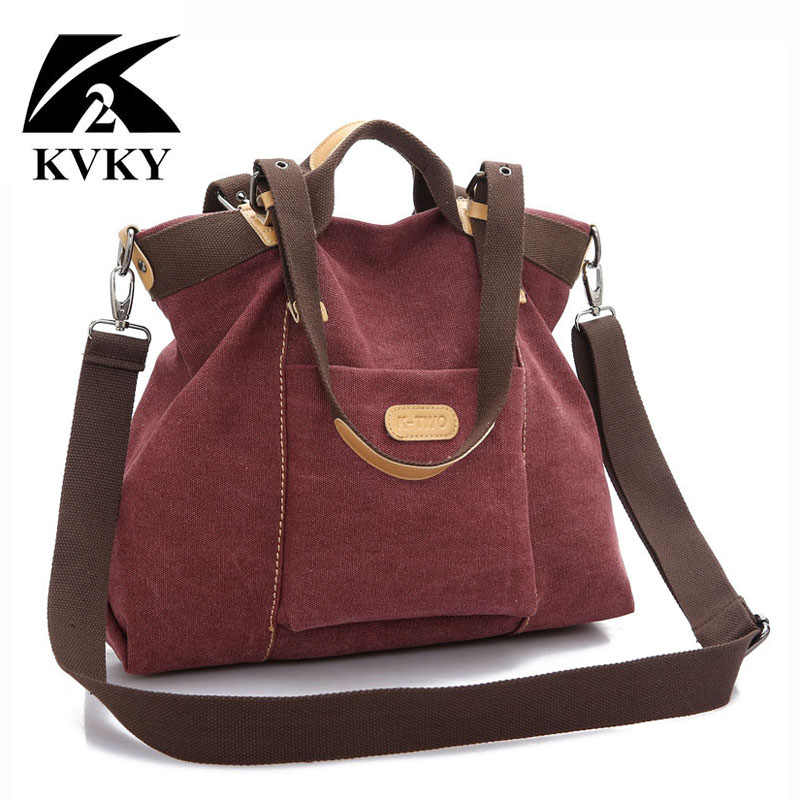 333bce9929b8 Подробнее Обратная связь Вопросы о KVKY новая весенне осенняя парусиновая  женская сумка мессенджер Женская качественная сумка через плечо известного  бренда ...