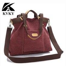 KVKY New Spring Autumn Canvas Women Bags Handbags Messenger Bag Ladies hig quality Shoulder Bag famous brand Crossbody Bag bolsa