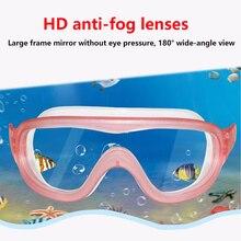 Большая Рамка Анти-туман плавательные очки дети профессионалы HD водонепроницаемый дайвинг очки оборудование детские очки для бассейна