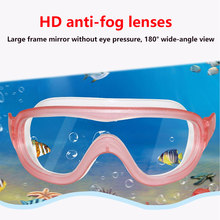 Big Frame Anti Fog Swimming Goggles kids Professionals HD Waterproof diving goggles equipment Children glasses for swimming pool(China)