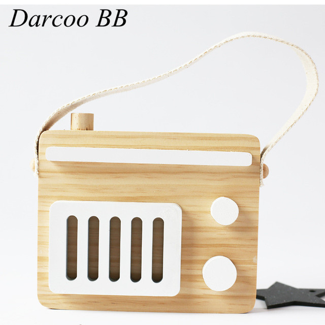 ce5c43c393 US $9.99 |Kids Baby Cute Wood Toys Children Fashion Radio Blocks Safe And  Natural Toys Boys Girls Birthday Christmas Gift-in Blocks from Toys & ...