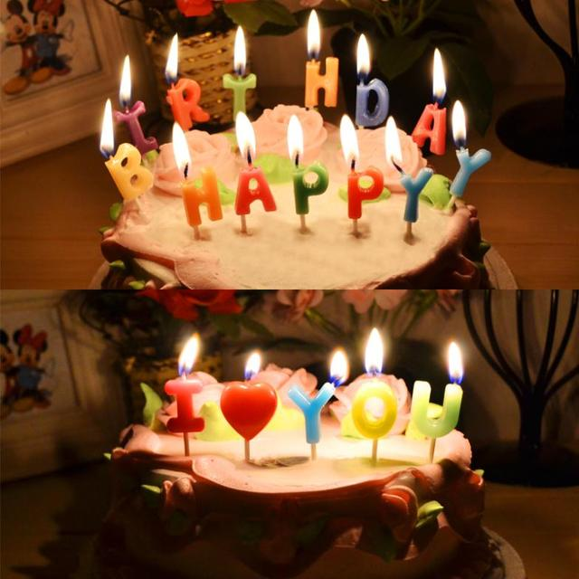 Candle Romantic Birthday Cake Digital Letter Candle Multicolour