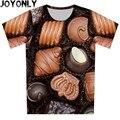 2016 Niños Del Verano 3D Camiseta de Manga Corta Camiseta de Impresión Tapas Creativas 100% Poliéster Ropa 95 cm-155 cm
