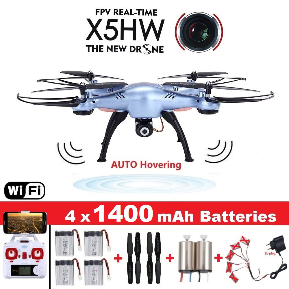 Original Syma X5HW FPV RC Drone with WiFi Camera RC Quadcopter with LED Light Headless Model Dron RTF Gift Toy with two batteries yuneec q500 4k camera with st10 10ch 5 8g transmitter fpv quadcopter drone handheld gimbal case