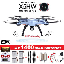 Original Syma X5HW FPV RC Drone with WiFi Camera RC Quadcopter with LED Light Headless Model