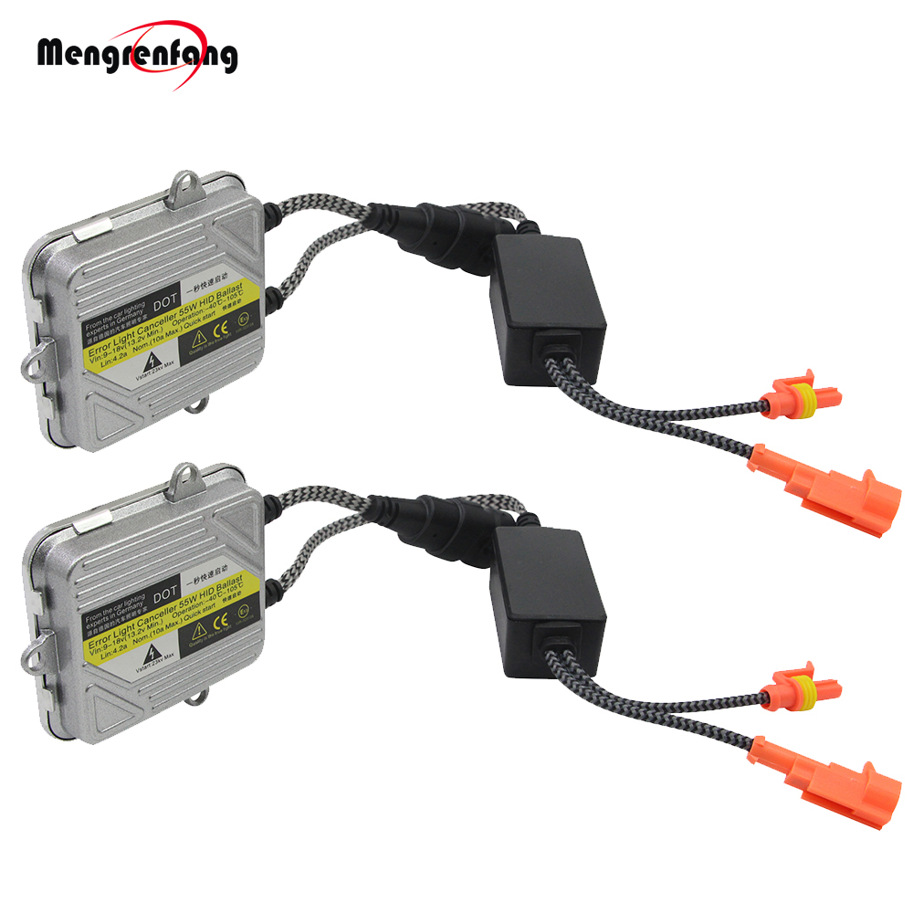 HID Xenon Ballast 12V 55W Slim Digital Ballast Block Electronic Ignition For Xenon Bulb H7 H4 H1 H3 H11 9005 9006 9007 880 881