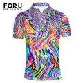 Forudesigns super hombres de la moda camisa de polo de color brillante ropa de polo homme slim fit camisa polo masculino de manga corta ropa de la marca