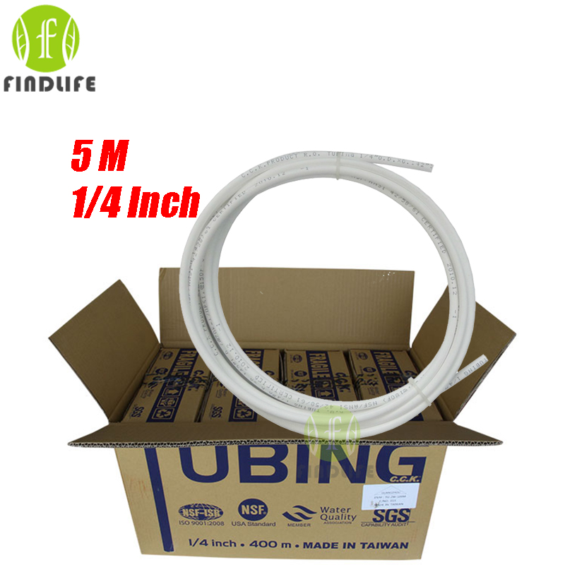 5M Water Filter Parts 1/4OD CCK Tube/Pipe Quick  Water Purifier RO Reverse Osmosis System 4pcs water connect 1 4 inch od tube 1 4 inch tube quick connect elbow pipe ro water system without trouble of nut