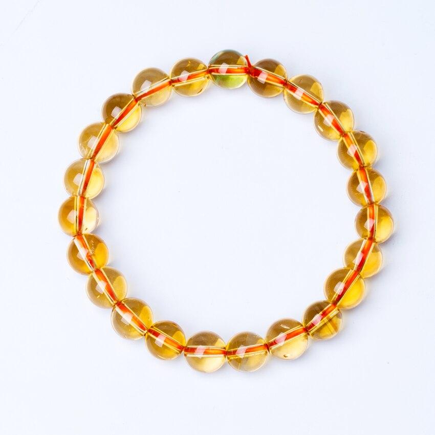 HTB1tBPOb8DH8KJjSszcq6zDTFXay 6-10mm Bright Citrine Bracelet Citrine Beads Natural Stone Bracelet Buddha Charms men's bracelets Bangles Jewelry Gift For Men
