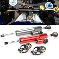 Universal Motorcycle Steering Stabilizer Damper FOR honda CBR 600 F2,F3,F4,F4i Black SpiRit CRF1000L AFRICA TWIN CBF600/SA MT07