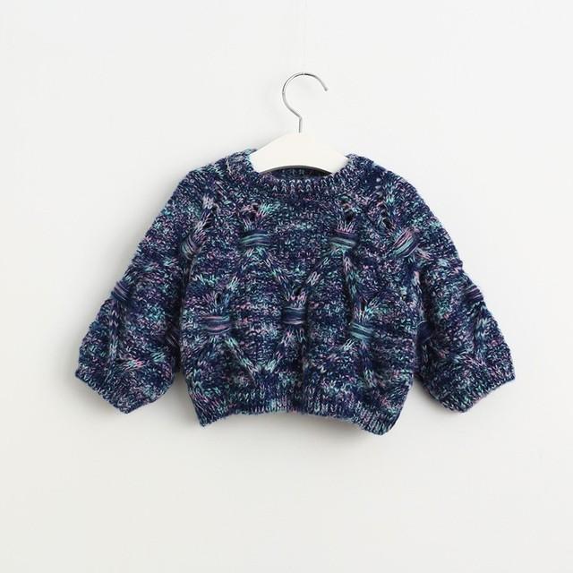 2017 primavera outono do bebê crianças Malha manga morcego Blusas Moda Meninas Do Bebê Camisola